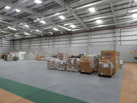 Open Space within climate controlled warehouse for daily & monthly Storage
